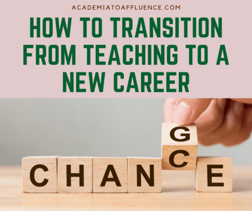 new career after teaching